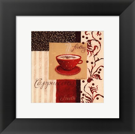 Framed Frothy Cappuccino Print