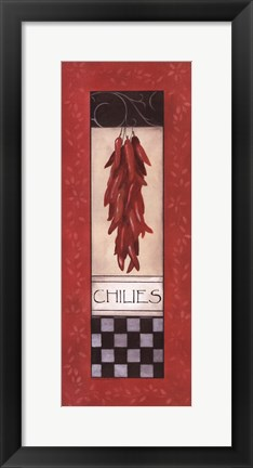 Framed Chilies Print