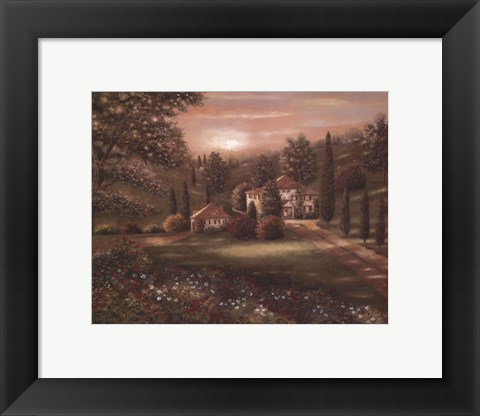 Framed Evening in Tuscany II Print