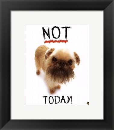 Framed Not Today! Print