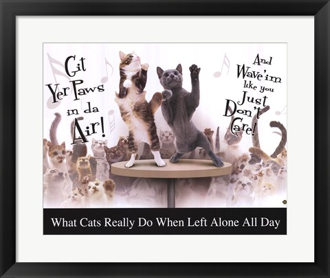 Framed Cat Party Print