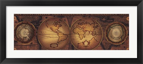 Framed Map - Orbis Geographica 2 Print