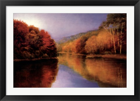 Framed Autumn Afternoon Stillness Print
