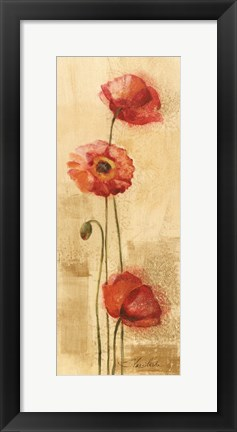 Framed Golden Poppies II Print
