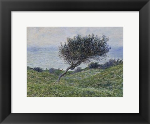 Framed Sea Coast at Trouville Print