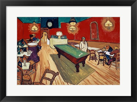 Framed Night Cafe in the Place Lamartine in Arles, c.1888 Print