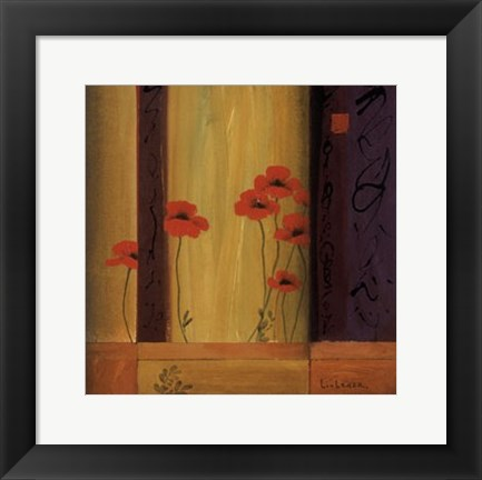 Framed Poppy Tile I Print