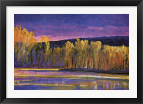 Framed Yellow Trees, Yellow Lake Print