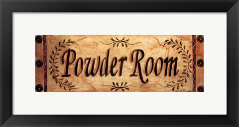 Framed Powder Room Print