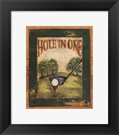 Framed Hole in One Print