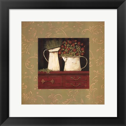 Framed Red Cupboard Print