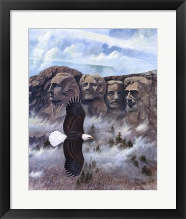 Framed Eagle - Mount Rushmore Print