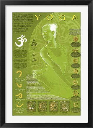 Framed Yoga & Its Symbols Print