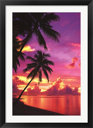 Framed Tahitian Sunset Print