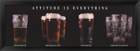 Framed Attitude is Everything (Beer) Print