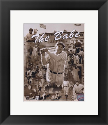 Framed Babe Ruth - Legends Of The Game Composite Print