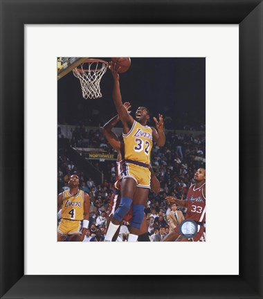 Framed Magic Johnson Print