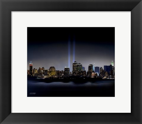 Framed Towers of Light (NYC) - September 11 Tribute Print
