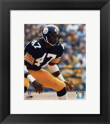 Framed Mel Blount - Action Print