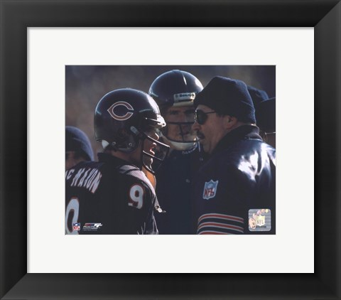 Framed Jim McMahon / Mike Ditka Print