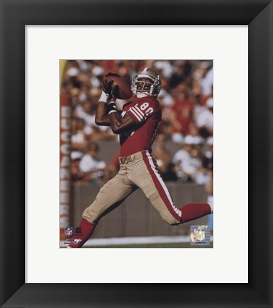Framed Jerry Rice - Over the shoulder catch - 49ers Print