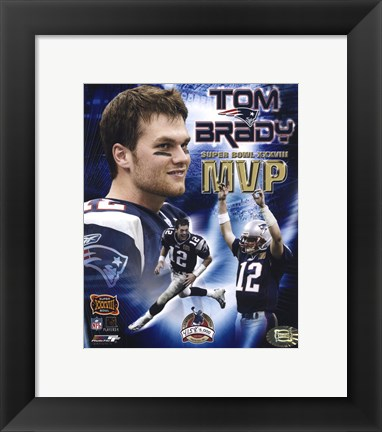 Framed Tom Brady - Super Bowl XXXVIII MVP Champions Collection (limited Edition) Print