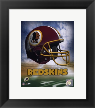 Framed Washington Redskins Helmet Logo Print