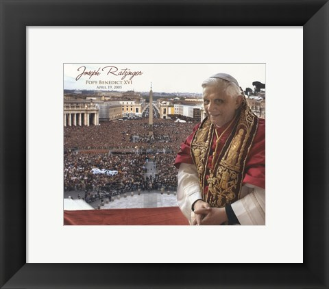 Framed Pope Benedict XVI - Horiz.(Crowd) Print