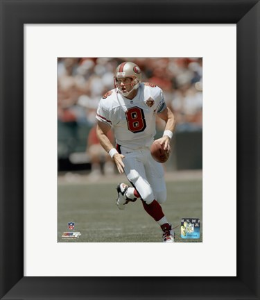 Framed Steve Young - Rolling Out Print