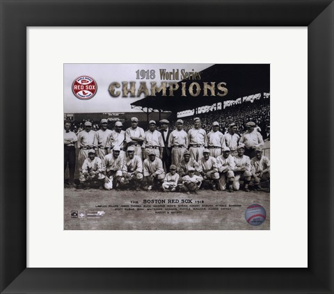 Framed 1918 Red Sox World Series Champions Print