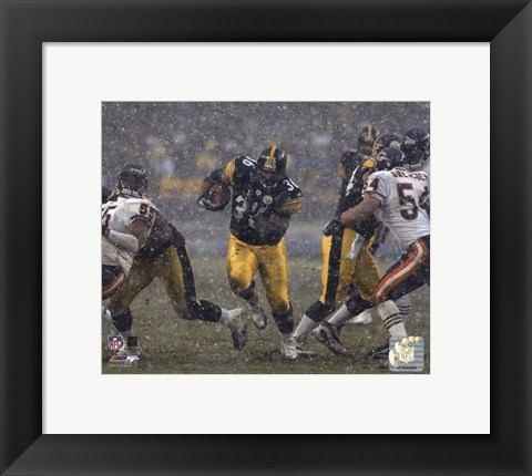Framed Jerome Bettis - '05 / '06 Action ( In The Snow) Print