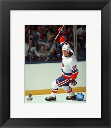 Framed Mike Bossy - Celebration Print
