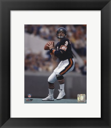 Framed Jim McMahon - Passing Action Print