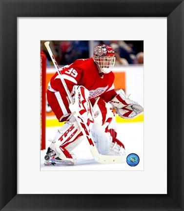 Framed Dominic Hasek - '06 /'07 Home Action Print