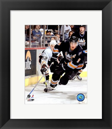 Framed Dainius Zubrus - '06 / '07 Home Action Print