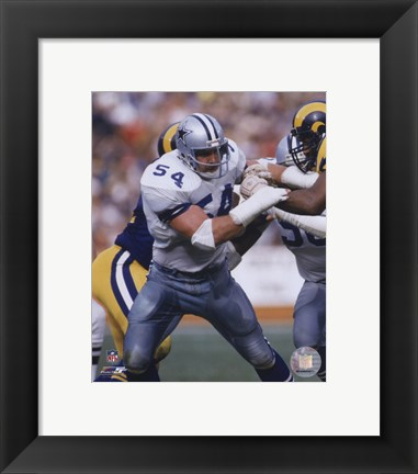 Framed Randy White - 1985 Action Print