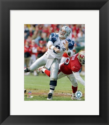 Framed Troy Aikman - Football Action Print