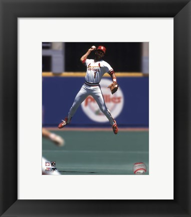 Framed Ozzie Smith - 1993 Fielding Action Print