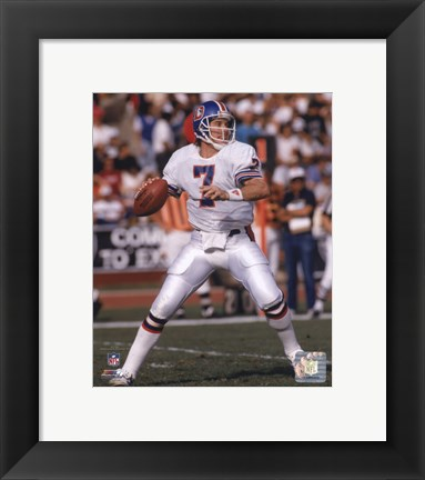 Framed John Elway - 1988 Action Print