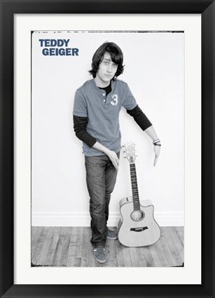 Framed Teddy Geiger Print