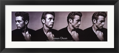 Framed James Dean Dream As You Live - Slim Print Print