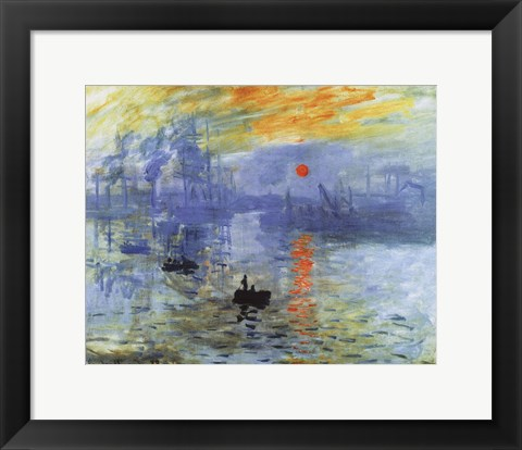 Framed Impression, Sunrise, c.1872 Print