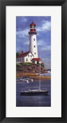 Framed Lighthouse Shoals I Print