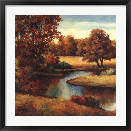 Framed Lakeside Serenity I Print