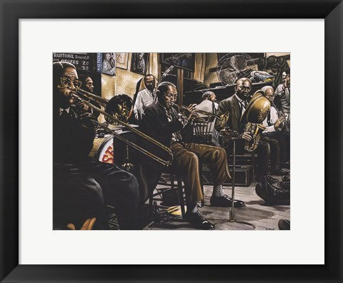 Framed Jazz Band Print