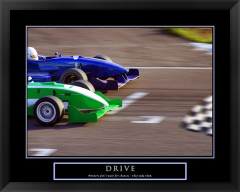 Framed Drive-Race Car Print