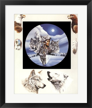 Framed Moonlit Warrior Print