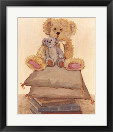 Framed Two Bears On Pillows Print