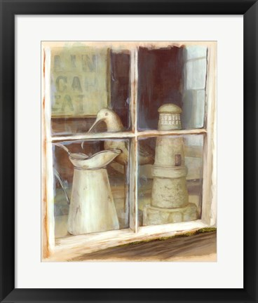 Framed Window With Pitcher Print