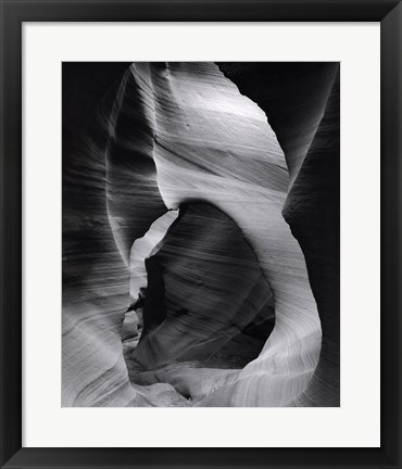 Framed Slot Canyon Swirls I Print